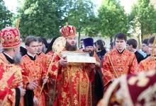 30-31 мая 2015 г. в Коломну прибыл ковчег с десницей великомученика Георгия Победоносца с Афона